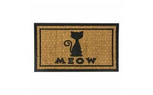 """Covor intrare mesaj """"Meow"""", 70X40 cm"""