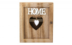 Cutie chei home inima din lemn 21x6x26