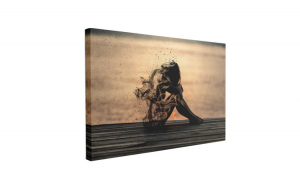 Tablou Canvas Dezintegrare, 60 x 90 cm, 100% Poliester