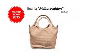 Geanta de dama Millan Fashion din piele ecologica gofrata, la 55 RON in loc de 130 RON