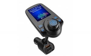 Modulator FM Techstar® T10D  Wireless  Bluetooth 5.0  Microfon Integrat  Quick Charge 3.0  Slot MicroSD  AUX IN