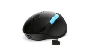 Mouse cu acumulator intern Omega, 2in1, cu fir sau fara fir, 300 mAh, reincarcabil, 1000DPI, negru