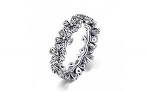 Inel argint 925 cu floricele delicate