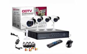 Sistem supraveghere CCTV kit DVR 4 camere exterior/interior, cu HDMI, internet, infrarosu, optiune vizionare de pe Smartphone, accesorii complete, la 639 RON in loc de 1299 RON