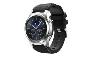 Curea Silicon Premium MTP Quick Release 22mm Negru pentru Samsung Gear S3