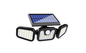 Lampa tripla solara 74 LED cu senzor