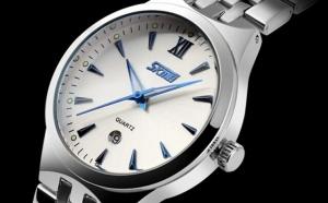Ceas SKMEI 9071 White Blue Fosfor, la doar 115 RON in loc de 230 RON