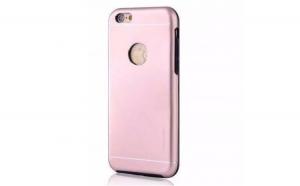 Husa Apple iPhone 6/6S Motomo V2 Roz-Auriu
