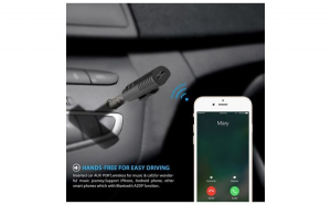 Receptor Bluetooth Audio WB Digital, Receiver Muzica Auto, 3.5 mm, A2DP Wireless Auto, AUX Adapter, Microfon