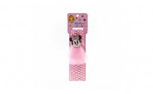 Bentita pentru copii cu aplicatie Minnie Mouse Roz Pal