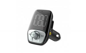 Modulator FM Techstar® T17B  Wireless  Bluetooth 4.2  FM Transmitator  Voltaj Baterie  USB  Slot MicroSD  AUX