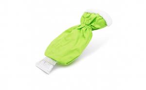 Racleta pentru gheata, cu manusa impermeabila, captusita, culoare verde