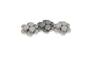 Set 30 lumanari parfumate pastile - aroma nucsoara/vanilie, gri