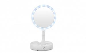 Oglinda pliabila cu iluminat LED si 2 fete