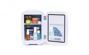 Mini frigider cosmetice Baby Lily, Meloni, dubla functie de incalzire/racire, 4L