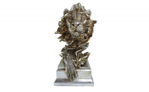 Staueta cap de leu, 30 cm, 011-38X