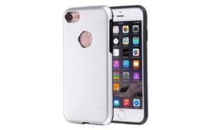 Husa Apple iPhone 6 Plus/6S Plus Motomo V2 Argintiu
