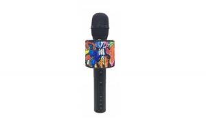 Set - Microfon Karaoke Wireless cu Bluetooth Soundvox™ D998 cu Boxa inclusa, Negru + Suport Universal de Birou Pentru Tablete sau Telefoane