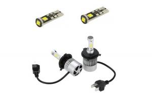 Bec led H4 Bi Lunga si Scurta /simplu (set 2 bucati) Ventilator Cip Putere 50 w  8000 Lumeni per bec + cadou becuri pozitii led can bus