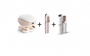 Set epilator Complet - Epilator picioare, trimmer sprancene si epilator facial
