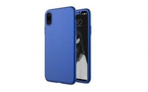 Husa Apple iPhone X Flippy Full Cover 360 Albastru + Folie de protectie