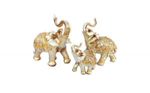 Statueta familie formata din 3 elefanti , 23 cm, 1060EC