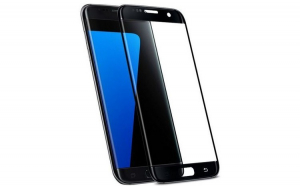 Folie sticla completa, Full screen, Samsung S7 Edge, Negru