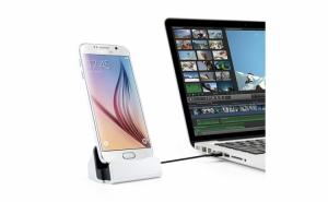 Stand pentru incarcare telefon, cu mufa Micro USB si functie Sync