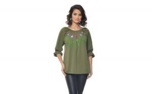 Bluza Dama Verde Olive Bumbac