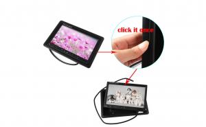 Monitor color pentru tetiera 7 inch, ecran TFT LCD, 2 intrari video
