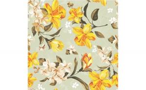 Tapet printat cu flori 023 1.5 x 5 m Hartie blueback fara adeziv