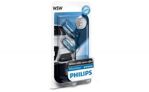 Set 2 Becuri auto Philips T10 White