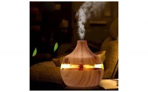 Aromaterapie / Umidificator cu led Ubitec ® lemn, 300 ml