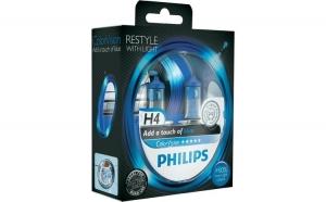 Philips H4 ColorVision albastru