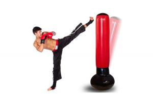 Sac de box gonflabil, din PVC rezistent, baza suport cu apa si sistem anti-picurare
