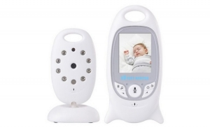 Baby Monitor audio video, Wireless, Nigh Vision IR LED, 2.5 inch, alb, la doar 399 RON in loc de 799 RON