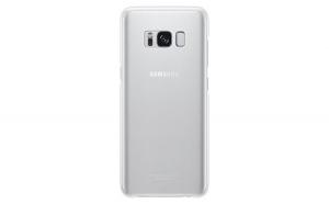 Husa Samsung Clear Transparent pentru Galaxy S8 G950 silver