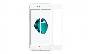 Folie sticla iPhone 8 White