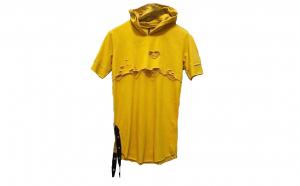 Tricou barbati Yellow Ripped