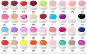 Kit 36 geluri colorate Lila Rossa Professional + set 15 Pensule cadou