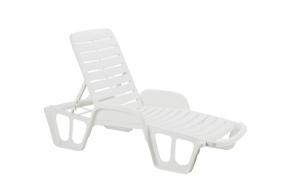 Sezlong plastic, alb, 71 x 192 x 100 cm ,SWBSA,Lettino, SB55