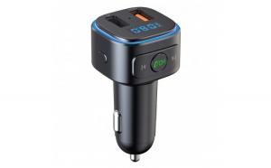 Modulator FM Techstar® T46Q  Wireless  Bluetooth 5.0  Quick Charge 3.0  Microfon Integrat  Ambient Light