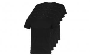Set de 5 tricouri negre din bumbac pentru adulti