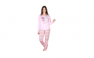 Set Pijama dama, imprimeu Lovely Bear, Multicolor