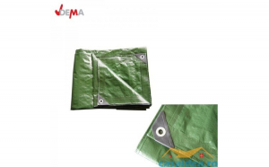 Prelata impermeabila din polietilena laminata 140g   m     5x8m  verde   DEMA 24707