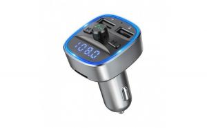 Modulator FM Techstar® T35  Wireless  Quick Charge  Bluetooth 5.0  Microfon Integrat  Slot MicroSD