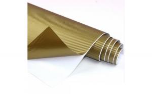 Rola folie carbon EVO 3D aurie cu tehnologie de eliminare a bulelor de aer 10m x 1.5m