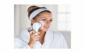 Perie de masaj si curatare faciala Spin Spa, mica