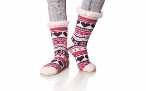 Set 2 x Ciorapi, botosei, interior imblanit, pentru femei, Model Winter Season