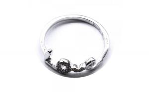 Inel argint 925 rodiat LOVE cu zirconii